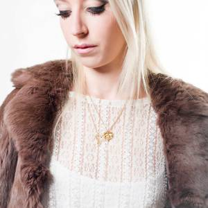 The 'mini Gypsy love necklace' by Zoe & Morgan.
