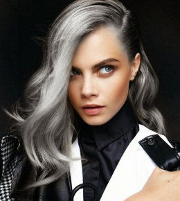Image result for grey hair young woman